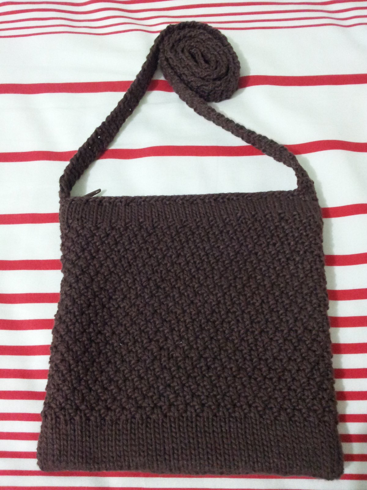 Free Pattern: Double Seed Stitch Sling Bag Miss Crafty Fingers